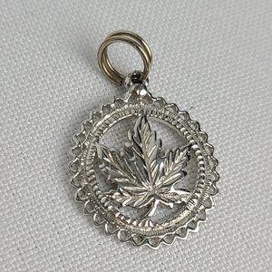 Sterling Silver Maple Leaf Bracelet Charm